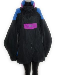 Vintage Color Block Columbia Radical Sleeve Jacket
